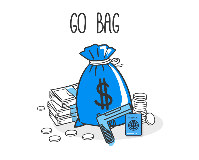 graphic of a savings bag