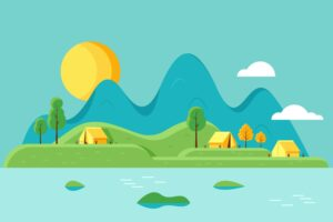 Vector image of campsite